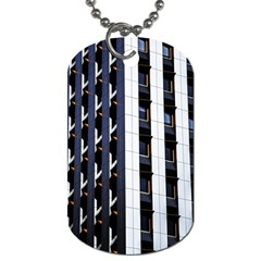 Architecture Building Pattern Dog Tag (one Side)