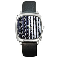 Architecture Building Pattern Square Metal Watch