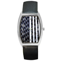 Architecture Building Pattern Barrel Style Metal Watch
