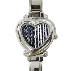 Architecture Building Pattern Heart Italian Charm Watch