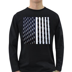 Architecture Building Pattern Long Sleeve Dark T Shirts