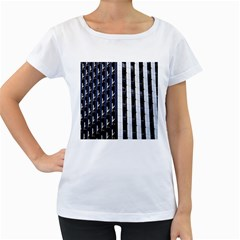 Architecture Building Pattern Women s Loose Fit T Shirt (white)