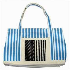Architecture Building Pattern Striped Blue Tote Bag