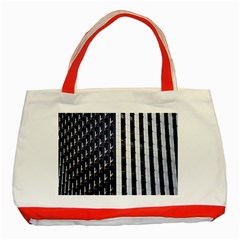 Architecture Building Pattern Classic Tote Bag (red)