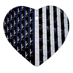Architecture Building Pattern Heart Ornament (two Sides)