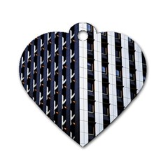 Architecture Building Pattern Dog Tag Heart (two Sides)