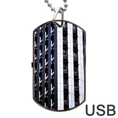 Architecture Building Pattern Dog Tag Usb Flash (two Sides)