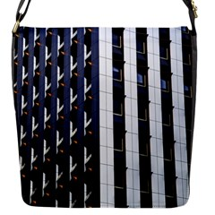 Architecture Building Pattern Flap Messenger Bag (s)
