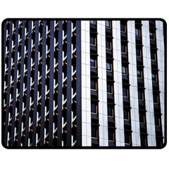 Architecture Building Pattern Double Sided Fleece Blanket (medium)