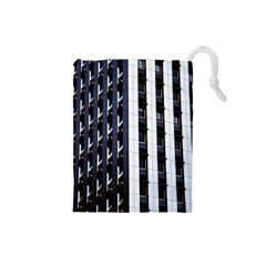 Architecture Building Pattern Drawstring Pouches (small)