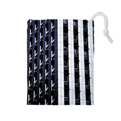 Architecture Building Pattern Drawstring Pouches (large)