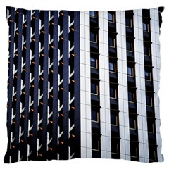 Architecture Building Pattern Large Flano Cushion Case (one Side)