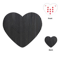 Background Lines Design Texture Playing Cards (heart)