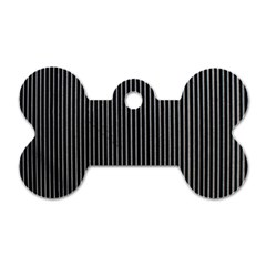 Background Lines Design Texture Dog Tag Bone (two Sides)