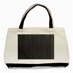 Background Lines Design Texture Basic Tote Bag (two Sides)