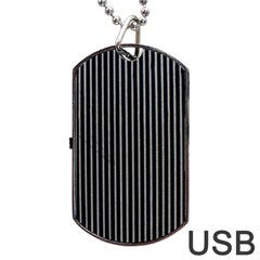 Background Lines Design Texture Dog Tag Usb Flash (two Sides)