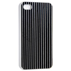 Background Lines Design Texture Apple Iphone 4/4s Seamless Case (white)