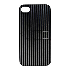 Background Lines Design Texture Apple Iphone 4/4s Hardshell Case With Stand