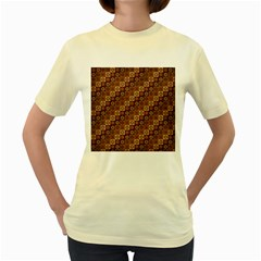 Background Structure Women s Yellow T Shirt