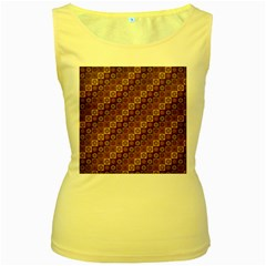 Background Structure Women s Yellow Tank Top