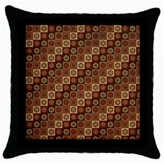 Background Structure Throw Pillow Case (black)