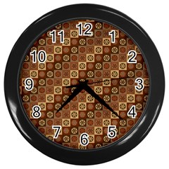 Background Structure Wall Clocks (black)