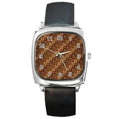 Background Structure Square Metal Watch
