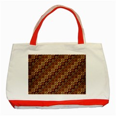 Background Structure Classic Tote Bag (red)
