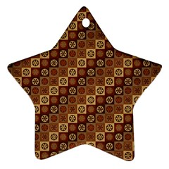 Background Structure Star Ornament (two Sides)