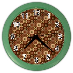 Background Structure Color Wall Clocks