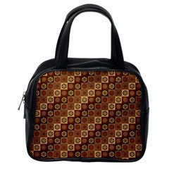 Background Structure Classic Handbags (one Side)