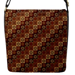 Background Structure Flap Messenger Bag (s)