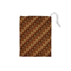 Background Structure Drawstring Pouches (small)