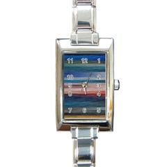 Background Horizontal Lines Rectangle Italian Charm Watch