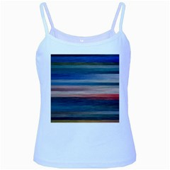 Background Horizontal Lines Baby Blue Spaghetti Tank