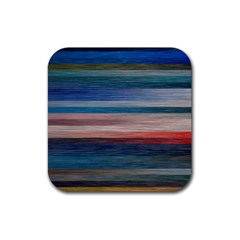 Background Horizontal Lines Rubber Coaster (square)