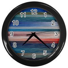 Background Horizontal Lines Wall Clocks (black)