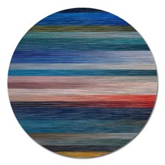 Background Horizontal Lines Magnet 5  (round)