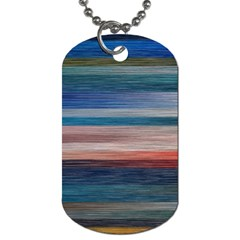 Background Horizontal Lines Dog Tag (one Side)