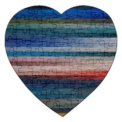 Background Horizontal Lines Jigsaw Puzzle (heart)