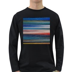 Background Horizontal Lines Long Sleeve Dark T Shirts