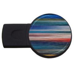 Background Horizontal Lines Usb Flash Drive Round (4 Gb)