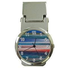 Background Horizontal Lines Money Clip Watches
