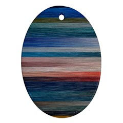 Background Horizontal Lines Oval Ornament (two Sides)