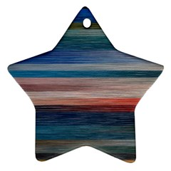 Background Horizontal Lines Star Ornament (Two Sides)