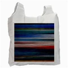 Background Horizontal Lines Recycle Bag (two Side)