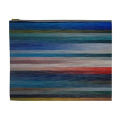 Background Horizontal Lines Cosmetic Bag (xl)