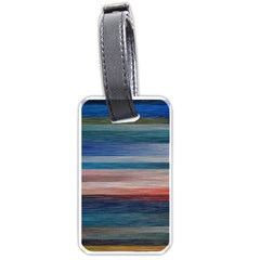 Background Horizontal Lines Luggage Tags (two Sides)