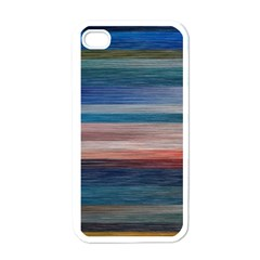 Background Horizontal Lines Apple iPhone 4 Case (White)