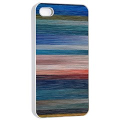 Background Horizontal Lines Apple Iphone 4/4s Seamless Case (white)